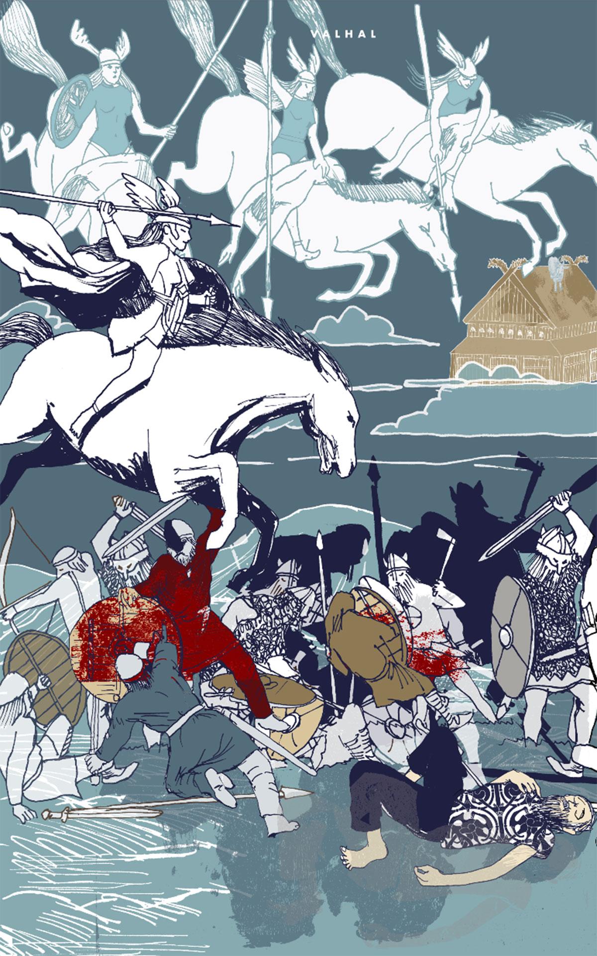 Valhal har 540 porte, og der kan komme 800 krigere ud på en gang af hver port